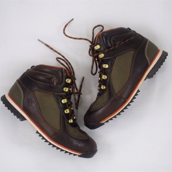 c8ee6db95ec72f Vintage Timberland Genuine Leather Hiking Boots. M 5a597728f9e50155d02f9edc